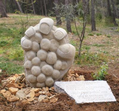 sculpture de Bruno Kramer au domaine St.Obre