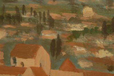 Gruissan vue de la tour J Bourzeix détail de l'oeuvre