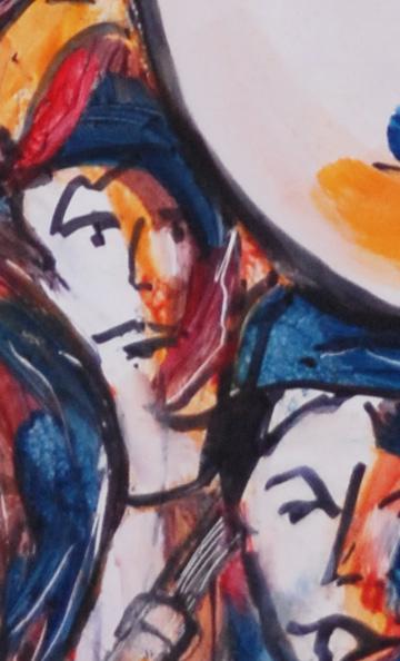boudègue et hélicon de René Herpe détail de l'oeuvre 2